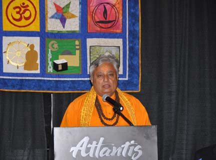 Benediction: Rajan Zed, President, Universal Society of Hinduism  PHOTO: Stephan Fuelling