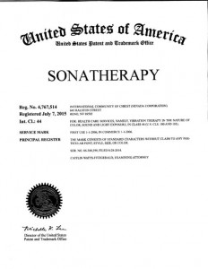 SONATHERAPY ® Now a Registered Trademark