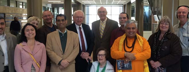 Interfaith committee members meet May 31, 2016 to discuss logistics of University of Nevada-Reno Meditation and prayer Room. PHOTO: Stephen Child