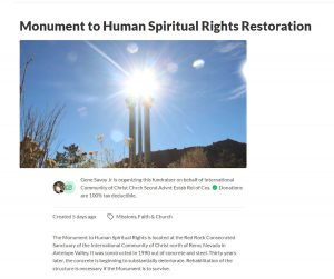 Monument to Human Spiritual Rights Restoration Project