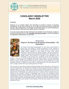 Cosolargy Newsletter 2020, Issue 3: March