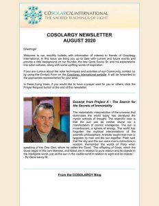 Cosolargy Newsletter 2020, Issue 8: August