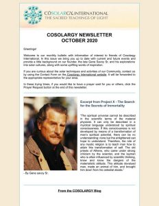 Cosolargy Newsletter 2020, Issue 10: October